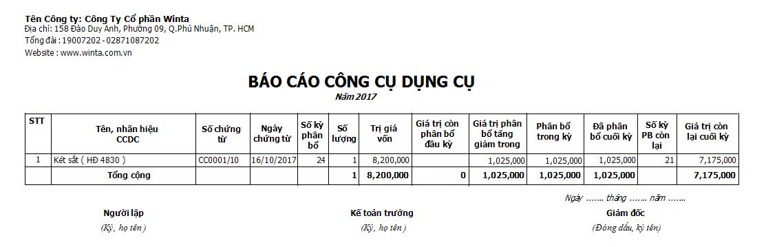 Báo cáo sử dụng CCDC